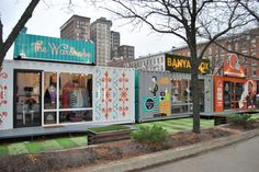 Cleveland Turns Shipping Containers Into Stores - From Empty Parking Lots to Bustling Stores: The Ingenious Way That Cleveland's Improving Its Economy The cool, new place to set up shop.