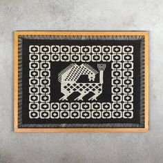 WOVEN WALL HANGING / Retro / 60s / 70s / Double woven / Tapestry / Brown beige / Mid century modern / Hand made / Craft / Wool linen This listing is for a finnish vintage hand woven wall hanging. It´s double woven and can be used on both sides. It´s called Finnväv  Material: Linen, wool