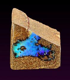Cobalt + Gold ~ Opal from Australia