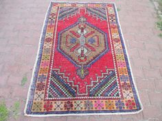 Rustic Turkish Oushak Rug Area Rug 73 x 51 inc