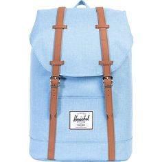 Herschel Supply Co. Retreat Laptop Backpack- Discontinued Colors ($60) ❤ liked on Polyvore featuring bags, backpacks, blue, laptop pocket backpack, backpack laptop bags, rucksack bags, shoulder strap backpack and blue laptop bag