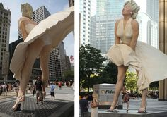I have to say that, despite the controversy, I found this statue delightful! Every time I passed it on Michigan avenue it made me smile at the beautiful memory of Norma Jean. Controversial Urban Underwear: Marilyn Monroe Statue, Chicago   DesignRulz.com