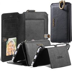 iPhone 7 Plus Case, Moyooo [Wallet Series] Vintage 2 in 1 Zipper Magnetic Leather 18 Card Slots Handbag 360 Degree Full Protection Flip Pouch Kickstand Cover -- Awesome products selected by Anna Churchill