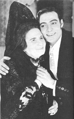 Rudolph Valentino and Rosa Rosanova during the filming of Blood and Sand (1922).