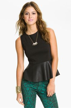 LOVE this Leather Peplum top!