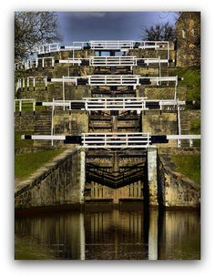 Five Rise Locks, Bingley, West Yorkshire, England. Where my Grandma lived Yorkshire England, Yorkshire Dales, West Yorkshire, England Uk, Canal Boat, Canal E, Northern England, Kingdom Of Great Britain, British Isles