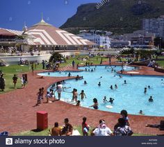 Stock Photo - Bathers crowding into the swimming pool at Muizenberg Pavilion Cape Town, Western Cape Province; Cape Town, Pavilion, Crowd, South Africa, Swimming Pools, Dolores Park, Stock Photos, Travel, Image