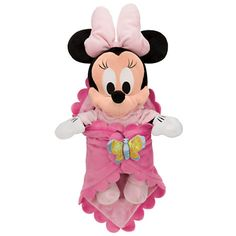 Our Disney's Babies Minnie Mouse Plush Doll and Personalized Blanket features a super-soft Disney blanket to keep baby Minnie nice and snuggly. Dressed in a cozy removable sleeper, this Minnie plush will provide dress up fun and give lots of warm hugs! Disney Plush, Disney Toys, Baby Disney, Disney Stuff, Disney Land, Disney Disney, Peluche Winnie The Pooh, Minnie Mouse Toys, Disney Parks Merchandise