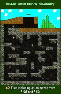 Platform Hills and Cave TileSet — Photoshop PSD #tile #asset • Download here → https://graphicriver.net/item/platform-hills-and-cave-tileset/9432599?ref=pxcr