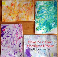 Make Your Own Marbleized Paper--simple and fun!