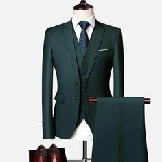 3 Piece Wedding Suits For Men Slim Fit Men's Suits Formal Burgundy Green Purple Yellow Red White Man Suit 3 pieces wedding suits for men slim fit men's suits formal burgundy green purple yellow red white man suit … Slim Fit Tuxedo, Tuxedo For Men, Slim Suit, Tuxedo Wedding, Wedding Suits, Wedding Groom, Wedding Dress, Blue Wedding, Green Wedding Suit