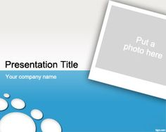 Photo PowerPoint Template is a free photo frame PowerPoint template slide for presentations in Microsoft PowerPoint