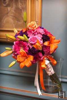 Bright wedding colors.  wedding bouquet