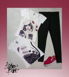calza + remeras de manga corta