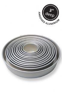 "PME Round Seamless 3"" Deep Baking Cake Tins Anodised Aluminium"