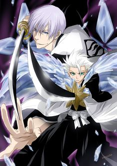 Toushirou Hitsugaya and Gin Ichimaru, ready for thier battle.