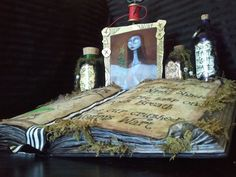 Spell Book: Rescue that outdated book from its way to the trash and create your own spooky spell book instead. Detailed step-by-step instructions and printable inner pages make this wickedly easy to put together.