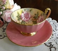 Aynsley cup and saucer.  Beautiful tea cup.