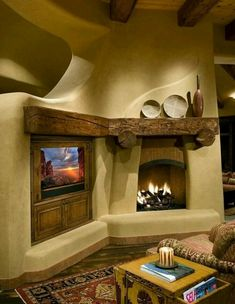 fireplace mantels 16 For Living Room Southwestern Home, Southwest Decor, Southwest Style, Adobe Haus, Earthship Home, Traditional Family Rooms, Traditional Kitchens, Traditional Bedroom, Tadelakt