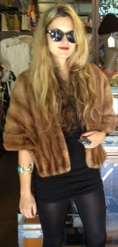 Vintage Fur Stole. Mine is a bit darker coco brown; need to get this out and about more!