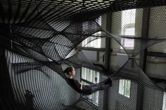 Hand-Woven Installation by Numen/For Use.- Would you live in these installations?  These interactive art installations bring a little glimpse of the surreal to real life. (via http://jaredleto.com/thisiswhoireallyam/2013/07/31/would-you-live-in-these-installations/