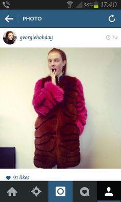 Tom Ford Fur Coat worn by Georgie Hobday. I need this