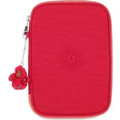 35a4ccb34 KIPLING 100 pens case (£39) ❤ liked on Polyvore featuring home, home decor,  office accessories, flamb shell c, kipling, stamp pen, zip pencil case, ...