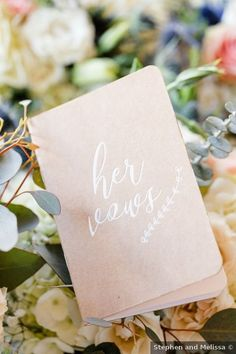 Wedding accessories ideas - vows, her, greenery, pink, white {Stephen and Melissa} Bridesmaid Inspiration, Wedding Inspiration, Arizona Wedding, Wedding Desert, Phoenix Wedding Photographer, Floral Watercolor, Watercolor Wedding, Floral Wedding, Wedding Blue