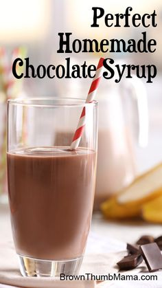 This homemade chocolate syrup comes together in minutes and is delicious in chocolate milk, on ice cream...you name it.
