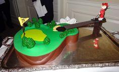 Golf/Guitar Cake