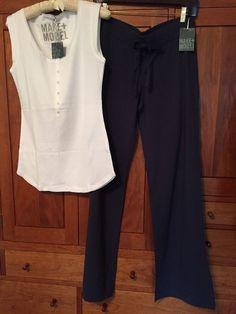 Women's Sleepwear/Loungewear by Make and Model NWT's Navy/White Size Medium #MakeModel #LoungePantsSleepShorts $24.99 + $8.50 s/h