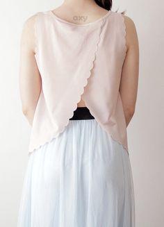 Kup mój przedmiot na #vintedpl http://www.vinted.pl/damska-odziez/bluzki-bez-rekawow/18891861-3-za-2-pudrowy-top-bez-plecow-z-falbanowym-wykonczeniem