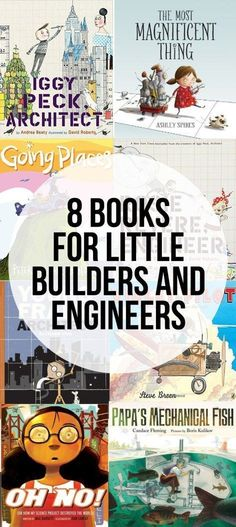 Inspire kids to be want to become engineers with this fun round of eight books for a little builders and engineers. The perfect way to build a STEM library! #engineeringforkids #booksforkids #engineeringkidsbooks
