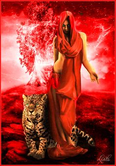 The perfect Tiger Girl Red Animated GIF for your conversation. Discover and Share the best GIFs on Tenor. Dark Fantasy Art, Fantasy Women, Gif Bonito, Beau Gif, Tiger Girl, Chica Fantasy, Amazing Gifs, Beautiful Gif, Animation