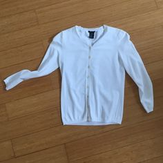Theory cardigan, size P White, dry clean only, 75% rayon 25% polyester Theory Sweaters Cardigans