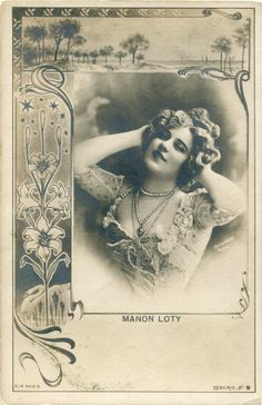 Vintage French RPPC Postcard Actress Manon Loty Reutlinger L857 | eBay