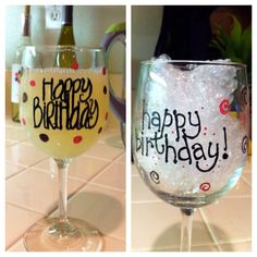 Easy to do - hand painted wine glasses.