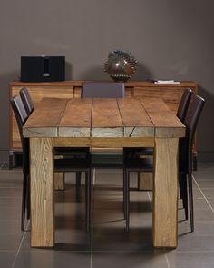 Tavolo legno massello design moderno gamba a Stella - Prezzo 899 ...