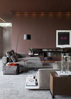 Warm modern grey and brown. CASA COR 2011 - DECA by Roberto Migotto architect and interiors.