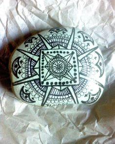 Medium Size Hand Painted Stone - by MandalaMandalaMovement on Etys. $28.00
