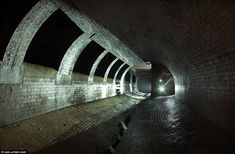 Parts of the tunnels have been well preserved and maintained as the tidal river waters don't impact on their lifespan