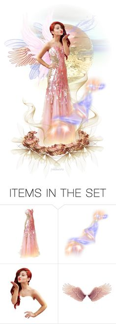 """Pink Fairy Kisses"" by pwhiteaurora ❤ liked on Polyvore featuring art"