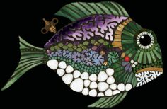 Glass Rocks for Mosaics | Created by Juli Hulcy....vit. and stained glass, fire polished glass ...