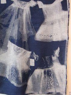 Ffion Griffith: Warp & Weft Exhibition, Ann Sutton, sun print of knitted garments