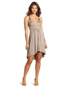 Wrapper Women's High Low Braid Embellished Jersey Dress