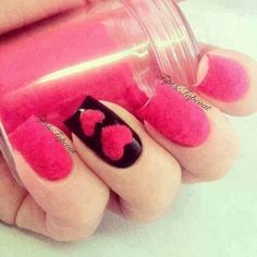 Tips and Topcoat: Born Pretty Store Pink Flocking Velvet Powder Revi. Velvet Nails, Gothic Nails, What Makes You Beautiful, Powder Nails, Flocking, Nails Inspiration, Cute Nails, Nail Art Designs, Valentines