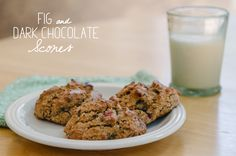 Fig & Dark Chocolate Scones {Gluten Free & Paleo} | So...Let's Hang Out