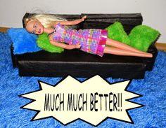 Barbie DIY furniture: warm and comfy sofa