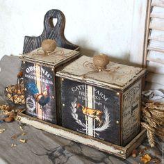 Купить ПРОВАНС набор коробов в подставке - бежевый, короб для хранения, короб для кухни, набор для кухни