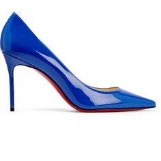 Escarpins vernis bleus Christian Louboutin